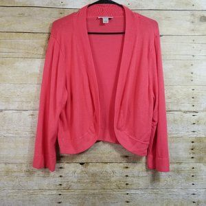 Christopher & Banks Coral Cardigan Size XL